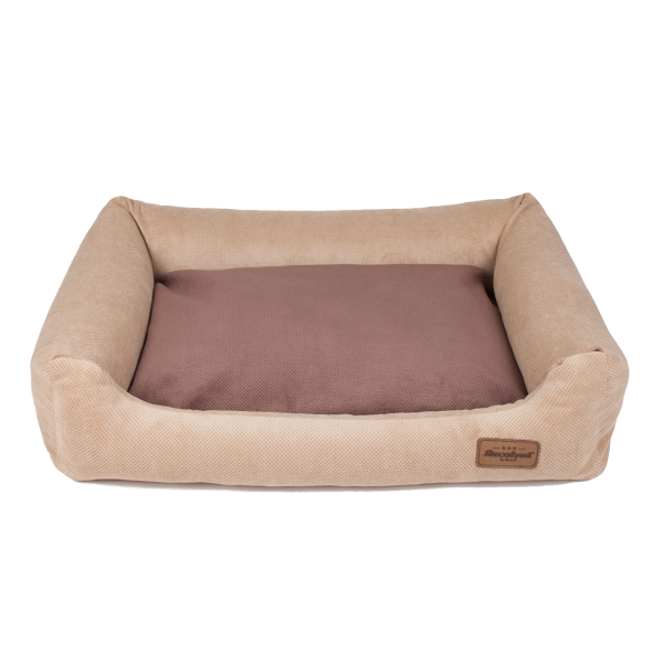 Siberian Sofa beige, double pillow beige&brown