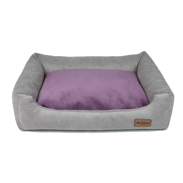 Siberian Sofa grey, double pillow grey&violet